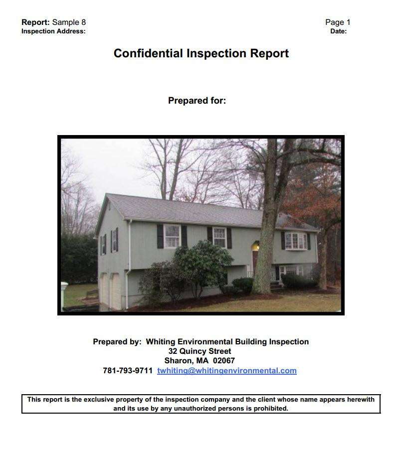 Sample Report Front by Metro Boston Property Inspections Building Inspection