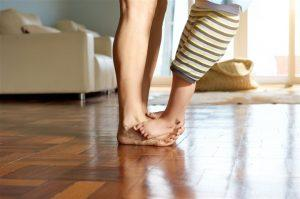 Boston Home Inspection Mom and Child Feet Together
