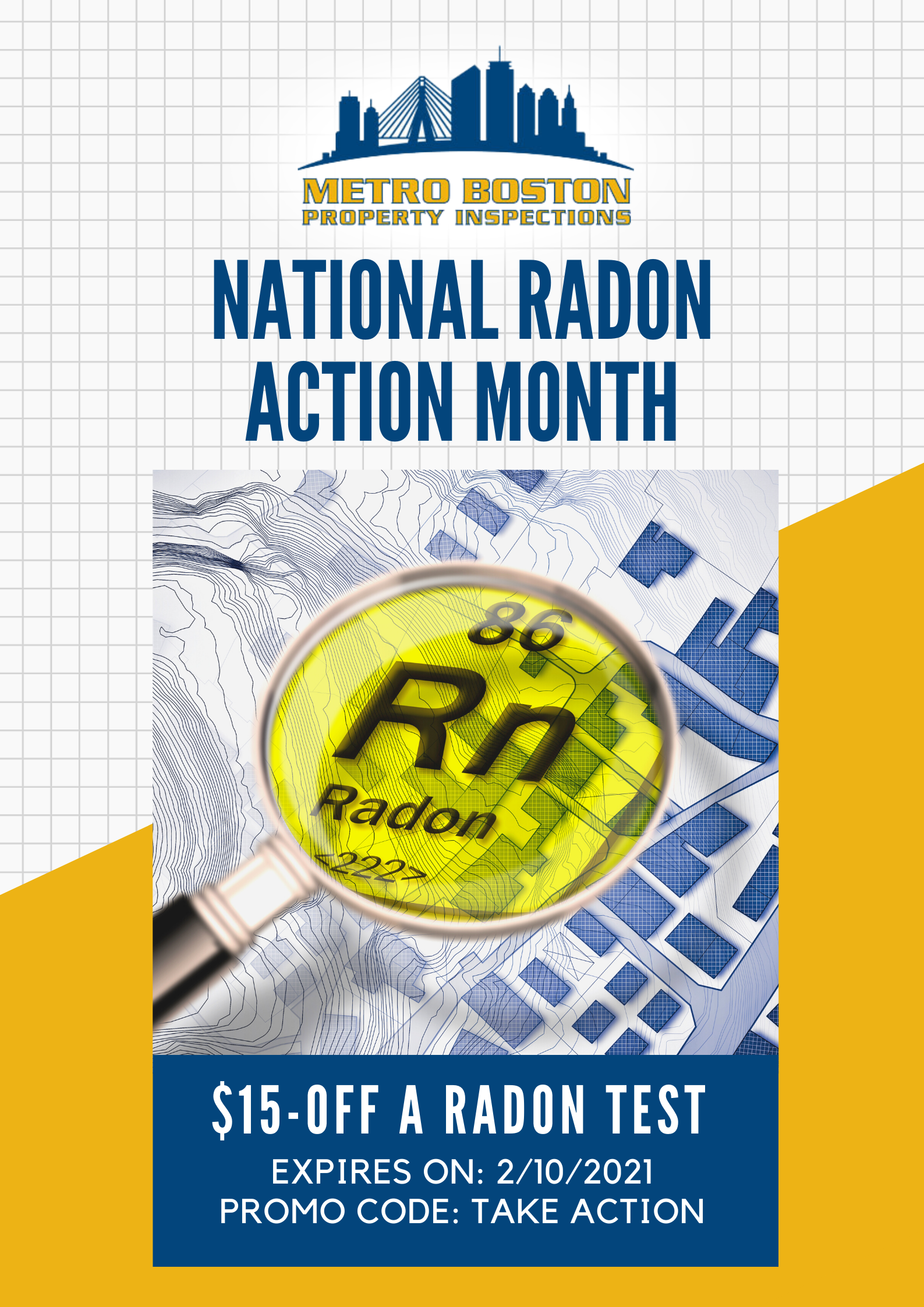 Boston Home Inspeciton Nation Radon Action Month